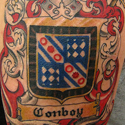 Tattoo of family crest