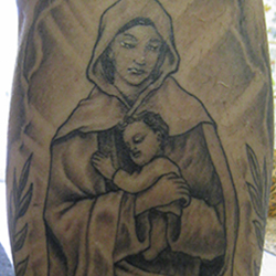Tattoo of the Virgin Mary