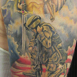 Tattoo of a soldier