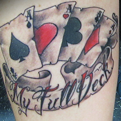 Tattoo of Cards