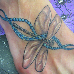 Tattoo of dragonfly