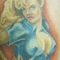Tattoo of pinup