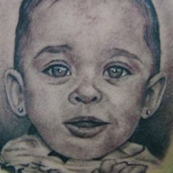 Tattoo of baby (portrait)