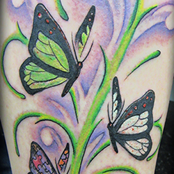 Tattoo of butterflys