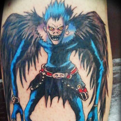 Tattoo of demon from death note