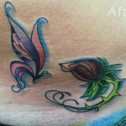 Tattoo of butterfly