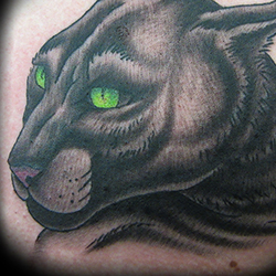 Tattoo of panther